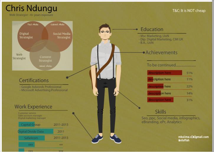 My Infographic Resume Vizibo
